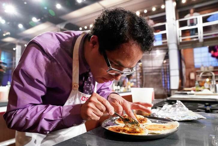"""Cesar Cano, an English teacher at Pasadena Memorial High School has advanced to the finals of Fox's """"MasterChef"""" amateur chef competition. The finals will air on Sept. 19, 2018."""
