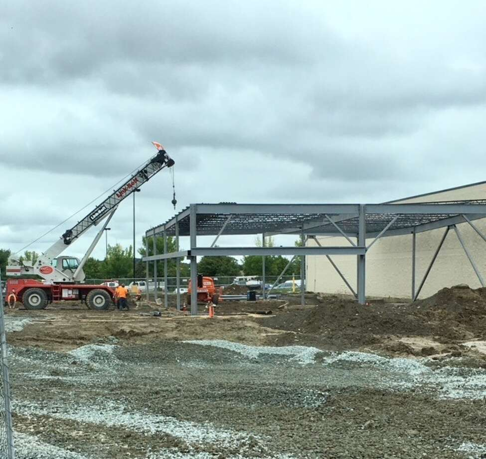 A new CoreLife eatery is being built at Latham Farms as part of a larger 9,000 retail addition next to Dick's Sporting Goods.