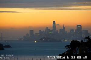 A band of high clouds draped across the San Francisco Bay Area Thursday morning created drama at sunrise. Many in social media shared images of the spectacle in the sky.