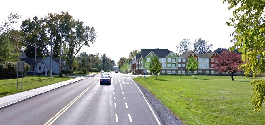 Windsor Cos. is planning a third phase of its Hamlet development in Slingerlands. This is a rendering of what the new buildings would look like from New Scotland Road driving from Albany toward Slingerlands. Photo: Windsor Cos.
