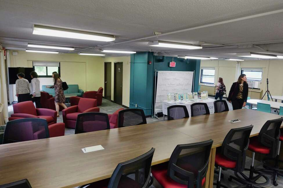 A view of the space inside The Collaboratory located at 3 Lincoln Square on Thursday, Sept. 13, 2018, in Albany, N.Y. Through The Collaboratory the Albany College of Pharmacy and Health Sciences will provide programs and partner with local community organizations to try to improve the health of those living in the area. (Paul Buckowski/Times Union)