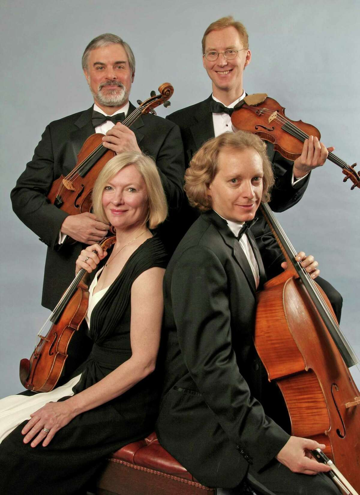The American String Quartet, clockwise from left, includes Laurie Carney, violin; Daniel Avshalomov, viola; Peter Winograd, violin; and Wolfram Koessel, cello.