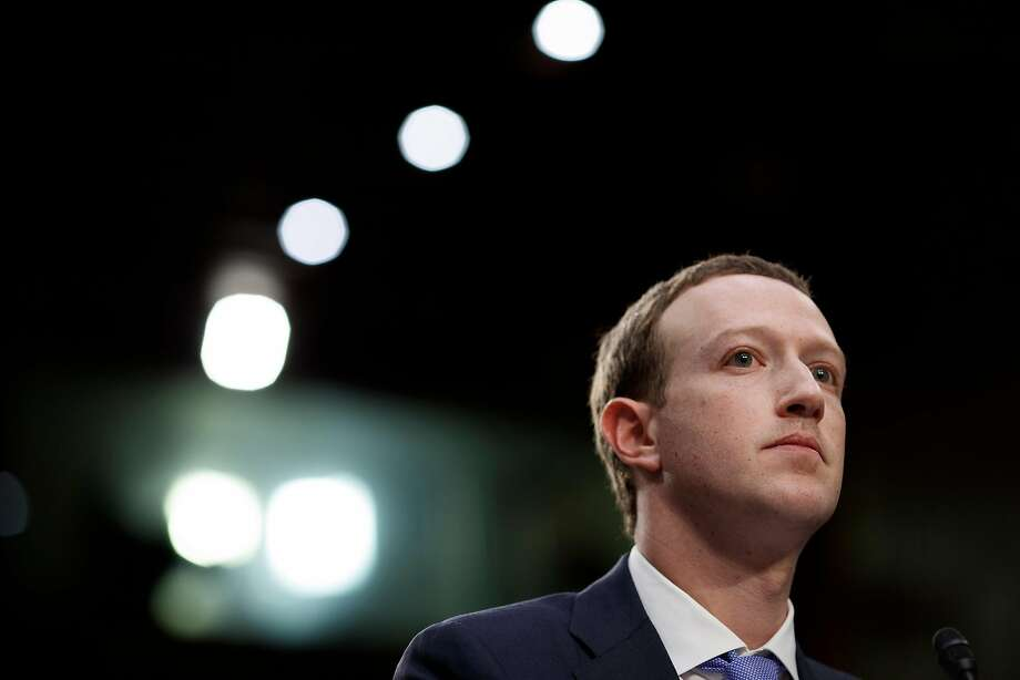 FILE -- Mark Zuckerberg, the Facebook chief executive, testifies before a Senate hearing on Capitol Hill in Washington, April 10, 2018. The chief executive published a roughly 3,300-word blog post cataloging the steps the social network has taken to secure elections worldwide. (Tom Brenner/The New York Times) Photo: Tom Brenner / New York Times 2018