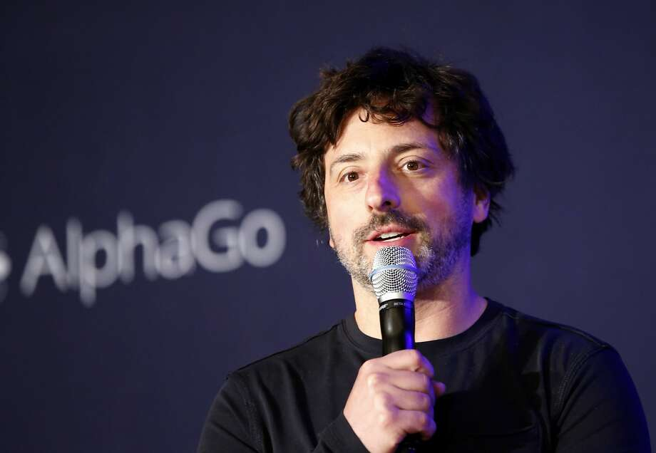 Sergey Brin, speaking at a 2016 news conference in South Korea, has been critical of President Trump. Photo: Lee Jin-man / Associated Press 2016