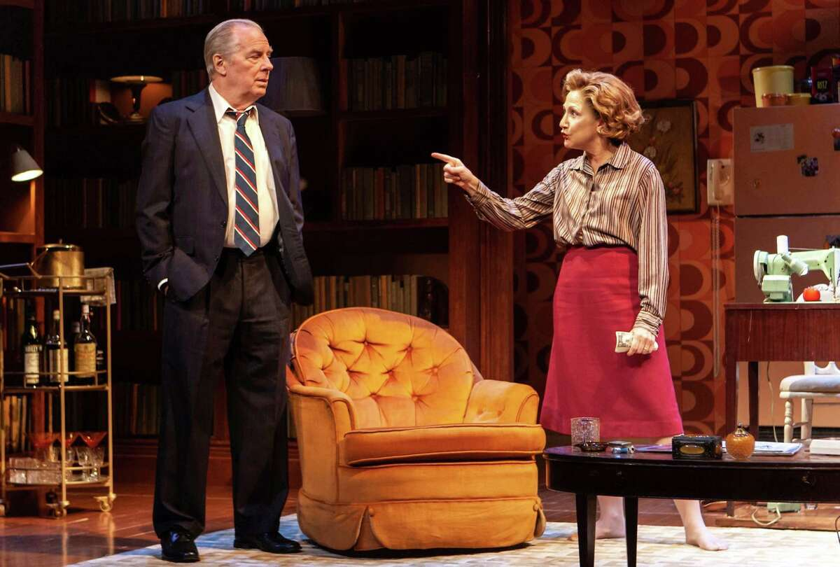 Michael McKean as Erastus Corning and Edie Falco as Polly Noonan in