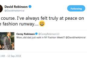 "David Robinson: ""Of course. I've always felt truly at peace on the fashion runway"""
