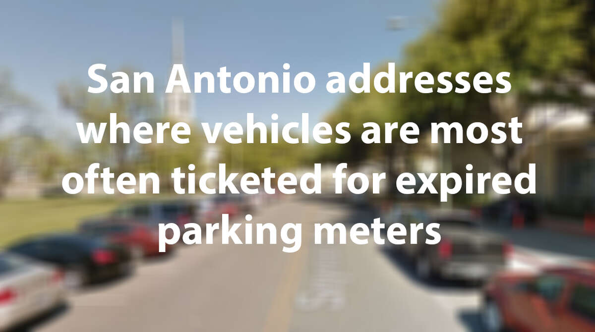 San Antonio issues more than 18,000 every year on average for tickets for expired parking meters. Click through the slideshow to see which which addresses had the most tickets over the past four years.