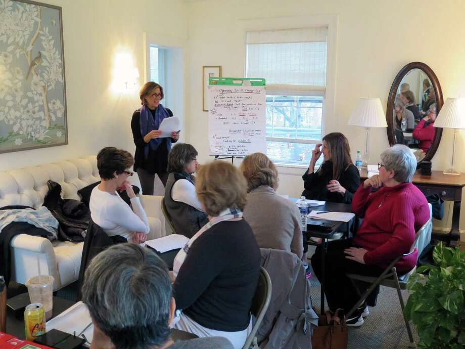 Instructor Meredith Dunne teaches a bridge class at the Darien Community Association. Bridge classes are being offered throughout the months of September and October. Photo: Contributed Photo