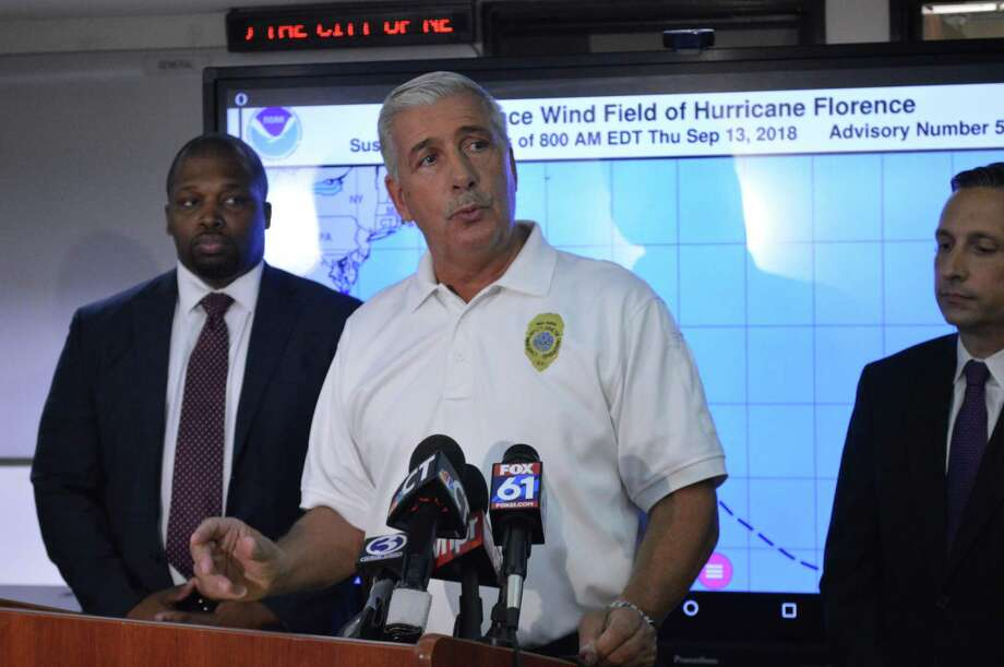 New Haven Director of Emergency Operations Rick Fontana urges people to have an emergency plan before severe weather hits the area. Photo: Clare Dignan / Hearst Connecticut Media