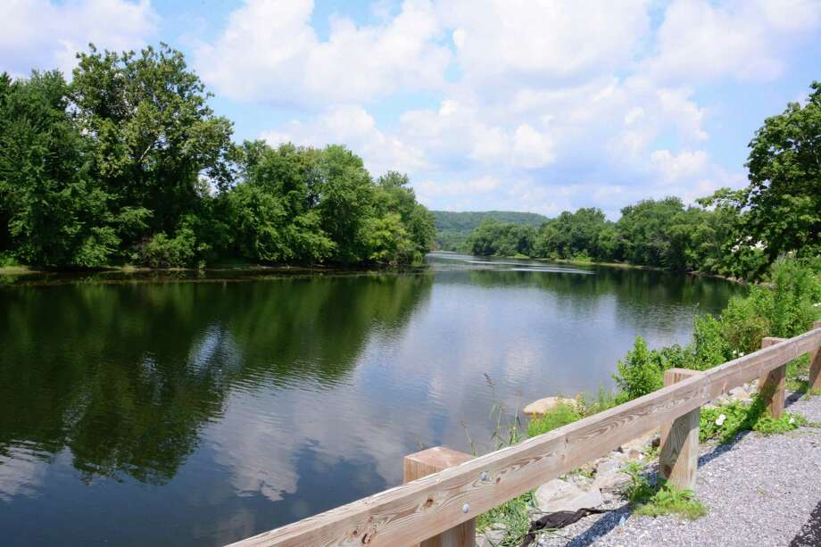 File photo of the riverwalk in New Milford. Photo: Lisa Weir / For Hearst Connecticut Media / The News-Times Freelance