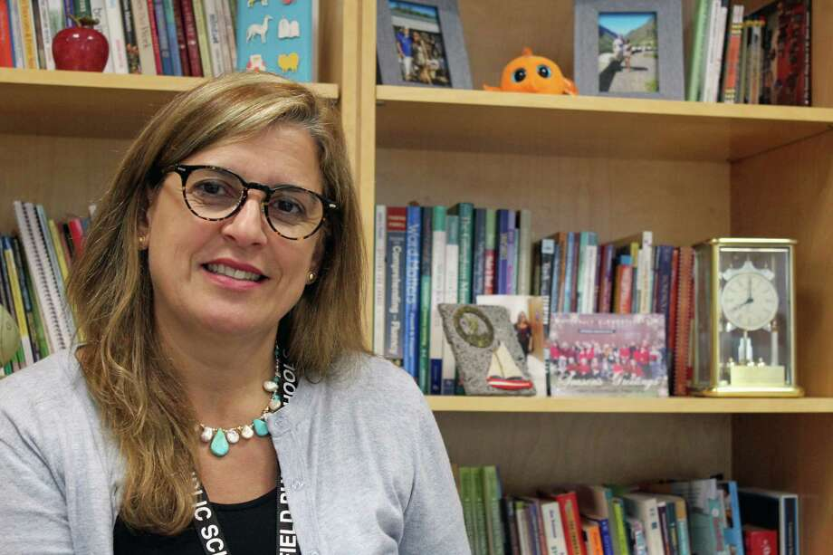 Teresa Gingrave, a native of Portugal, has taken over the helm at McKinley School. Photo: Genevieve Reilly / Hearst Connecticut Media / Fairfield Citizen