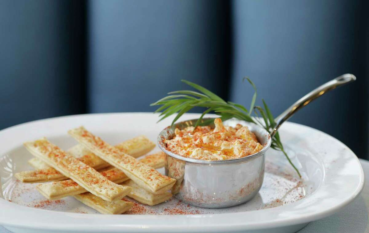 Texas pimento cheese with smoked paprika at Diana American Grill at the Hobby Center for the Performing Arts.