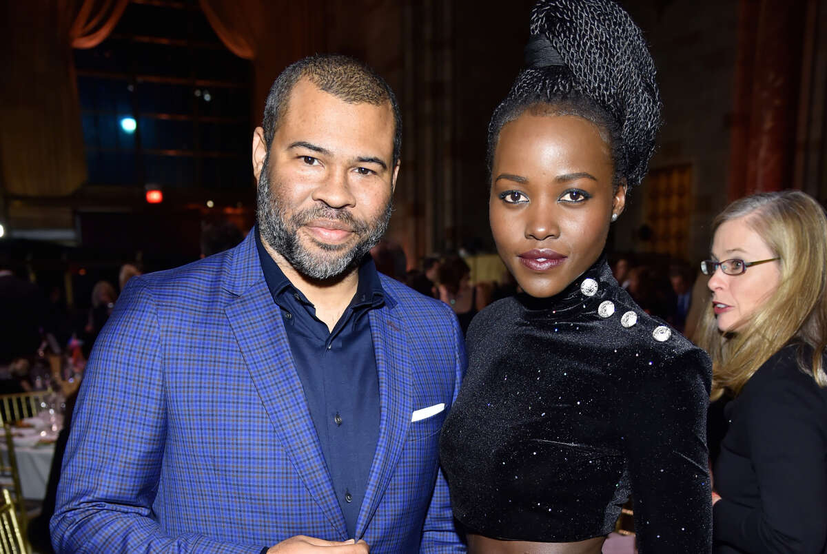 NEW YORK, NY - JANUARY 09: Director Jordan Peele (L) and actor Lupita Nyong'o attend The National Board Of Review Annual Awards Gala at Cipriani 42nd Street on January 9, 2018 in New York City.