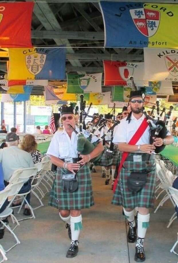 Bagpipers kickoff the Milford Irish Festival each year. Photo: Irish Heritage Society Of Milford