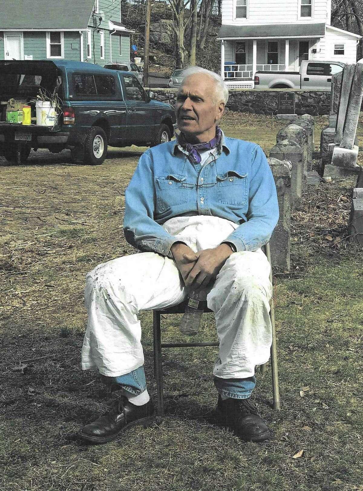 Norwalk resident, store owner and volunteer Casey Onaitis at Norwalk Union Cemetery, where he worked to maintain gravesites. Onaitis died Sept. 10, 2018.