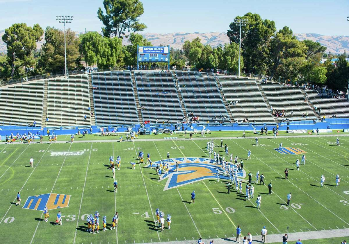 October 8, 2016: A general view of CEFCU Stadium prior to the Mountain West Conference game between San Jose State Spartans verses the Hawaii Warriors at CEFCU Stadium in San Jose, CA.