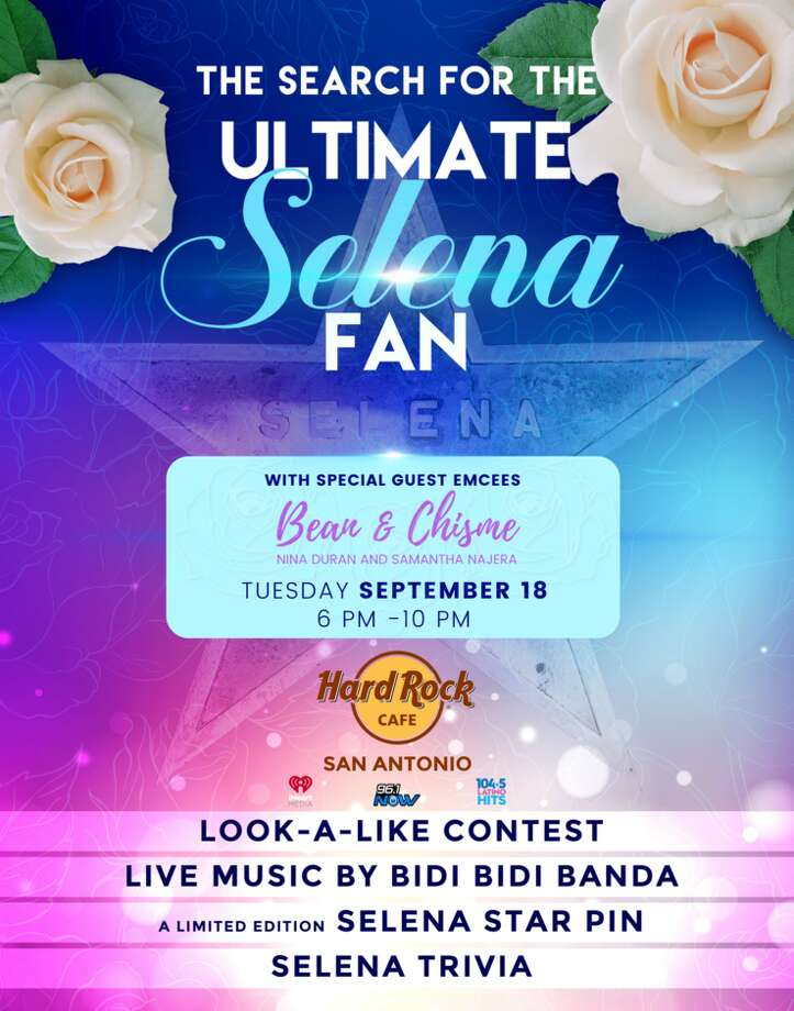 "The Hard Rock Cafe is searching for San Antonio's ""Ultimate Selena Fan"" with a contest and celebration fit for a Tejano queen on Sept. 18 from 6 to 8 p.m. Photo: Courtesy, Hard Rock Cafe"