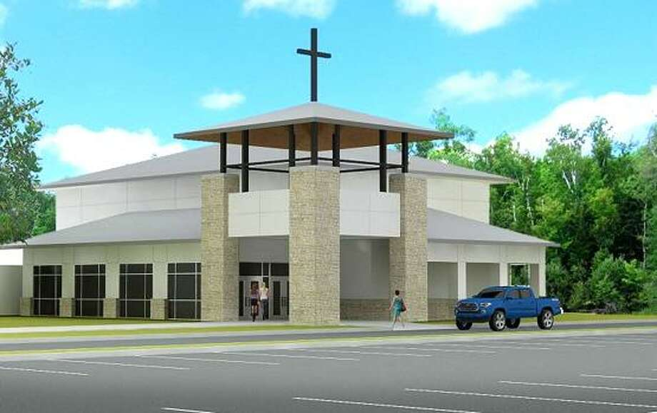 A preliminary rendering shows the exterior of a new sanctuary for which the Lake Houston United Methodist Church in Huffman has launched a capital campaign to replace the sanctuary lost to Hurricane Harvey's floodwaters. Photo: Courtesy Of Lake Houston United Methodist Church / Courtesy Of Lake Houston United Methodist Church