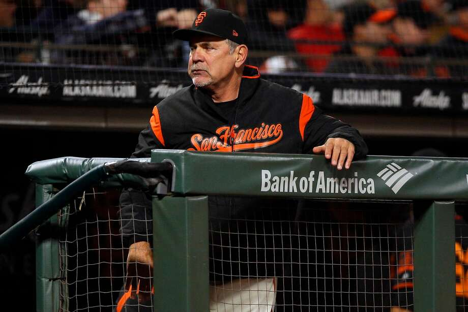 San Francisco Giants manager Bruce Bochy (15) during an MLB game between the San Francisco Giants and Oakland Athletics at AT&T Park on Saturday, July 14, 2018, in San Francisco, Calif. Photo: Santiago Mejia / The Chronicle