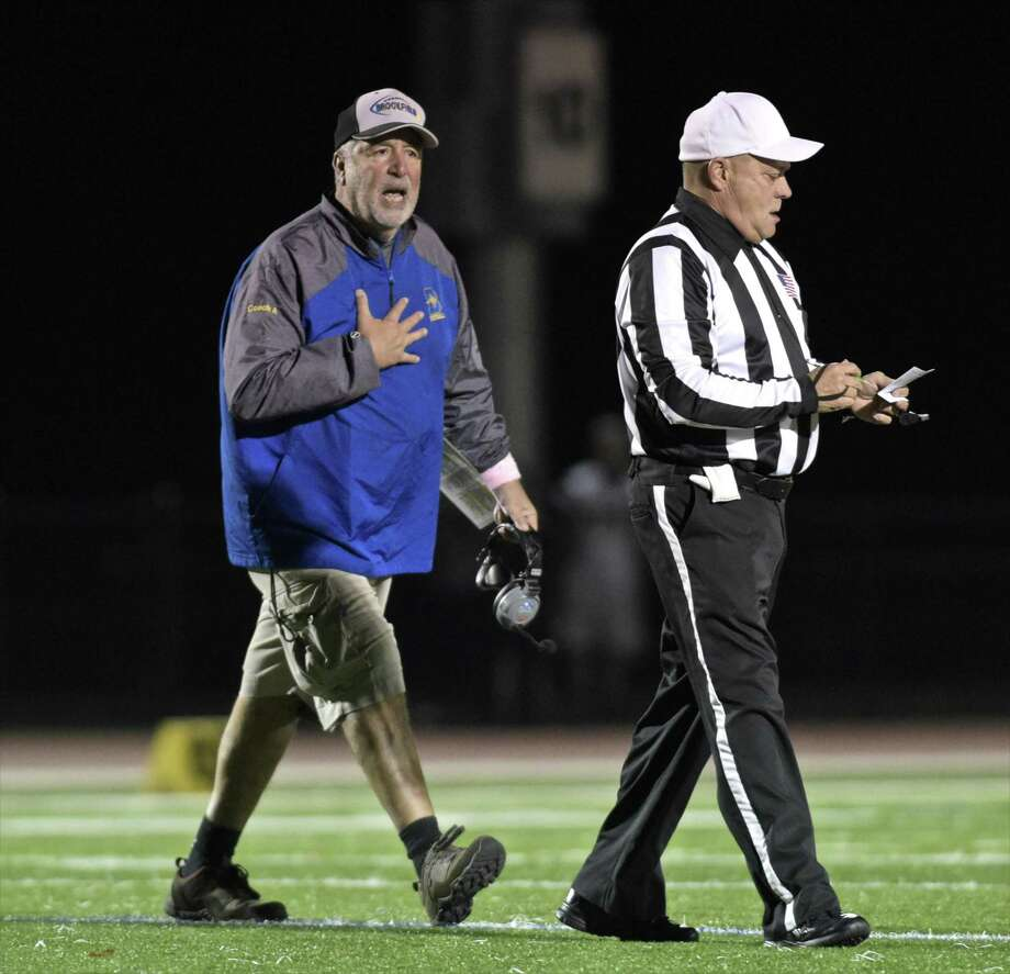 Brookfield coach Rich Angarano will lead the Bobcats against the SCC's Hillhouse on Friday before hosting North Haven in Week 5. Photo: H John Voorhees III / Hearst Connecticut Media / The News-Times