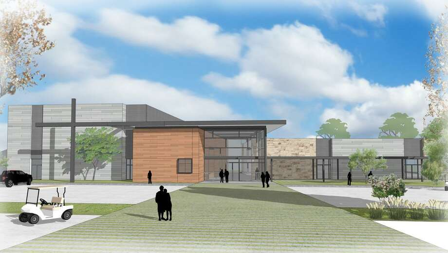 A rendering shows the first phase of the Woodforest campus building project, which includes a multipurpose worship center, gymnasium, children's space and commons area. The campus is hosting a groundbreaking ceremony Sunday, Sept. 23. Photo: Courtesy Photo / Courtesy Photo