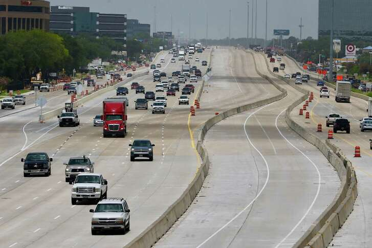 Traffic flows eastbound on U.S. 290 toward Pinemont on July 16.