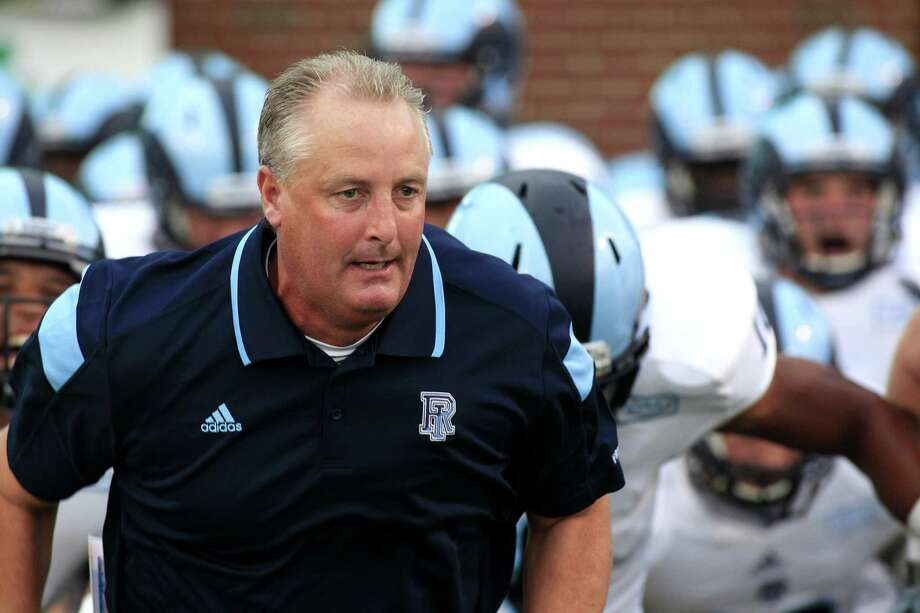 Rhode Island football coach Jim Fleming, who previously coached at Sacred Heart, will be back in the state to face UConn on Saturday. Photo: University Of Rhode Island Athletics