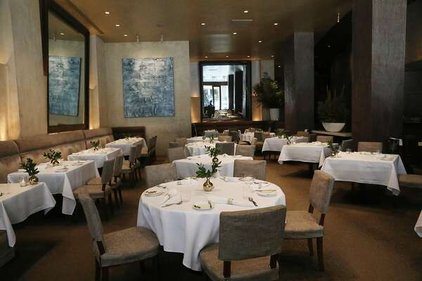 The dining area at Michael Mina is seen on Friday, September 7, 2018 in San Francisco, Calif.