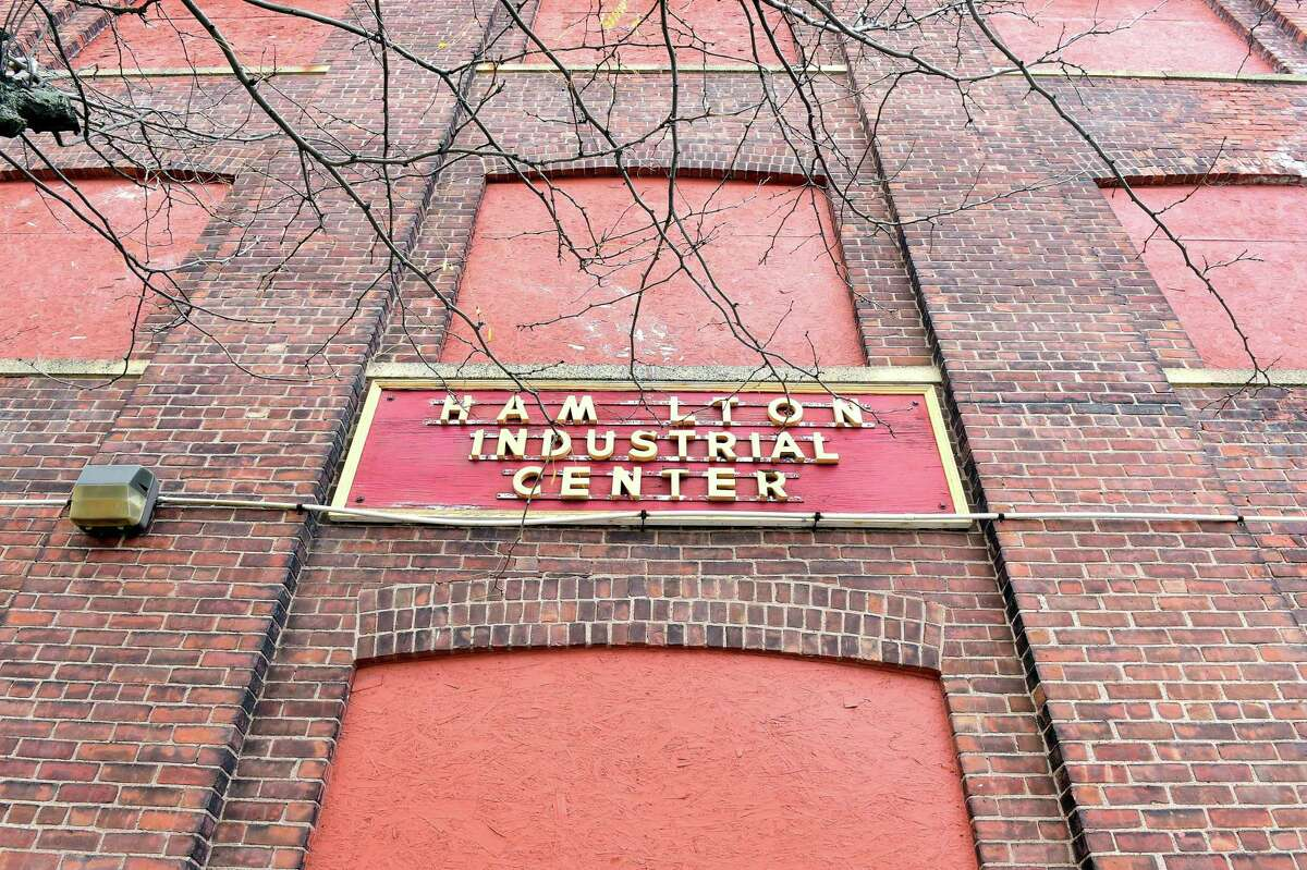 The site of an old clock factory on Hamilton Street in New Haven.