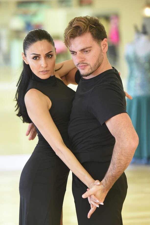 Giorgi Khmiadashvili and Nelly Mustafayeva, photographed Aug. 28, 2018, at the Ballroom Dance Studio. James Durbin/Reporter-Telegram Photo: James Durbin / ? 2018 Midland Reporter-Telegram. All Rights Reserved.
