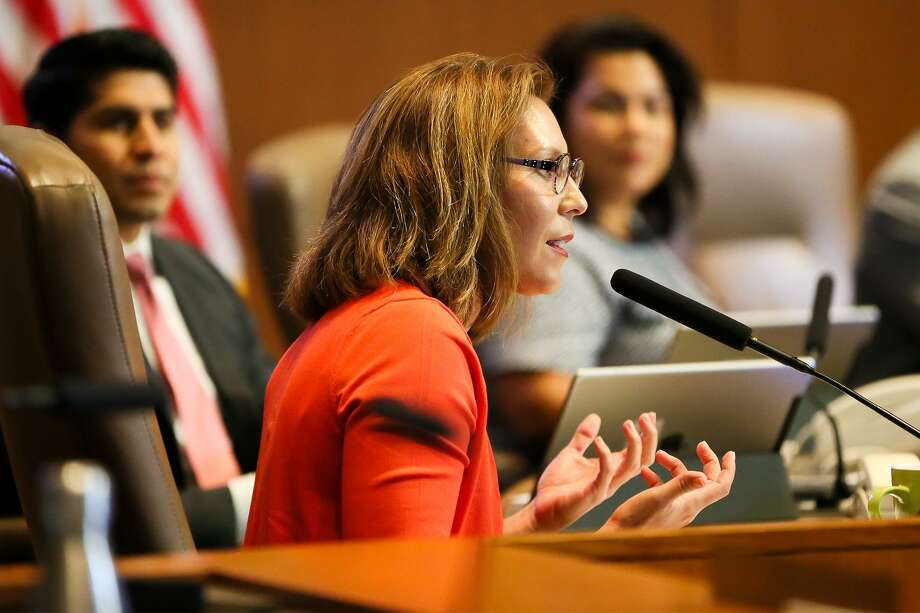 District 5 councilwoman Shirley Gonzales, shown here in September, brings a different view on transportation to the council. She deserves re-election. Photo: Marvin Pfeiffer /Staff Photographer / Express-News 2018