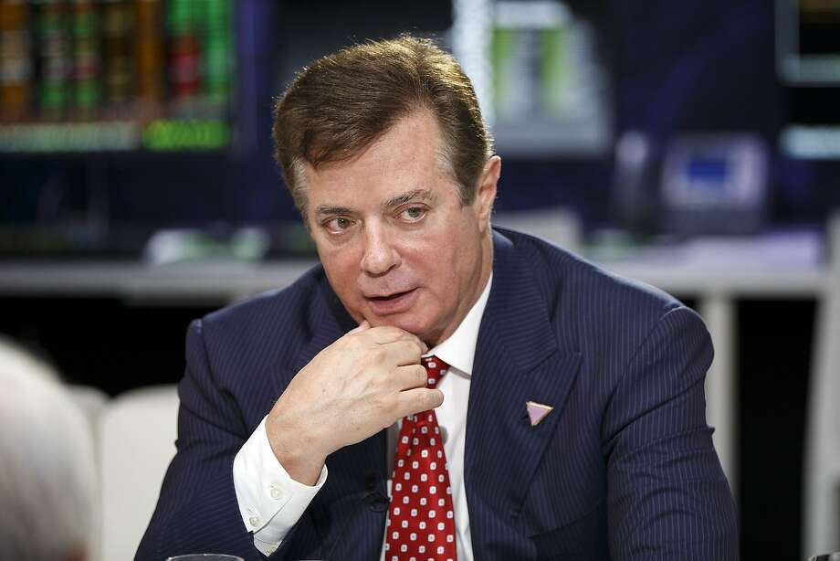 Paul Manafort speaks during a Bloomberg Television interview at the Republican National Convention in Cleveland on July 18, 2016.  Photo: Patrick T. Fallon, TNS