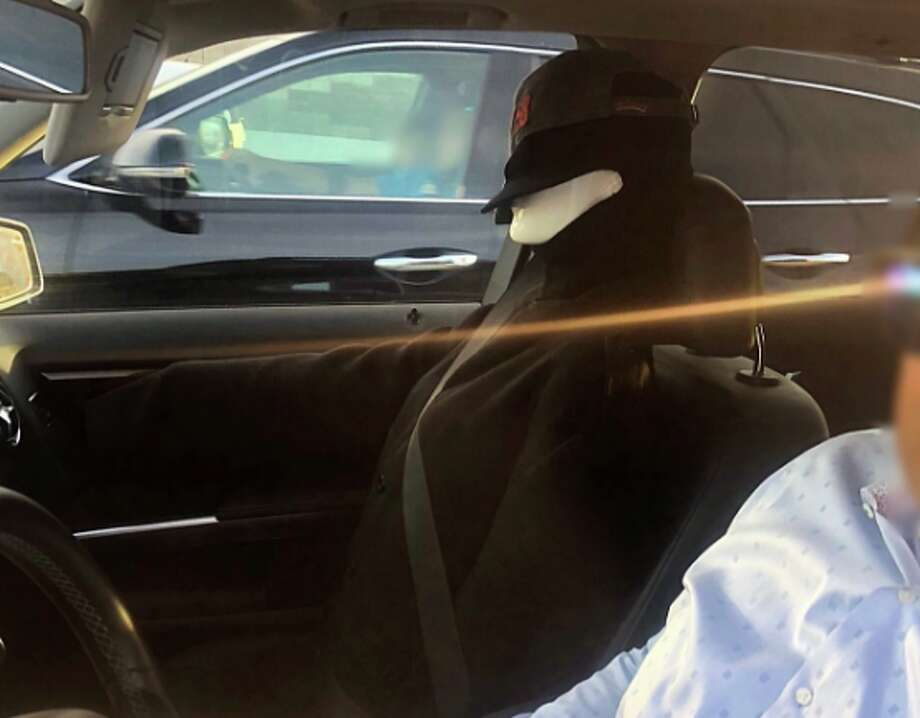 """A driver in Contra Costa County was pulled over after using a """"Venom"""" dummy in the carpool lane. Photo: California Highway Patrol"""
