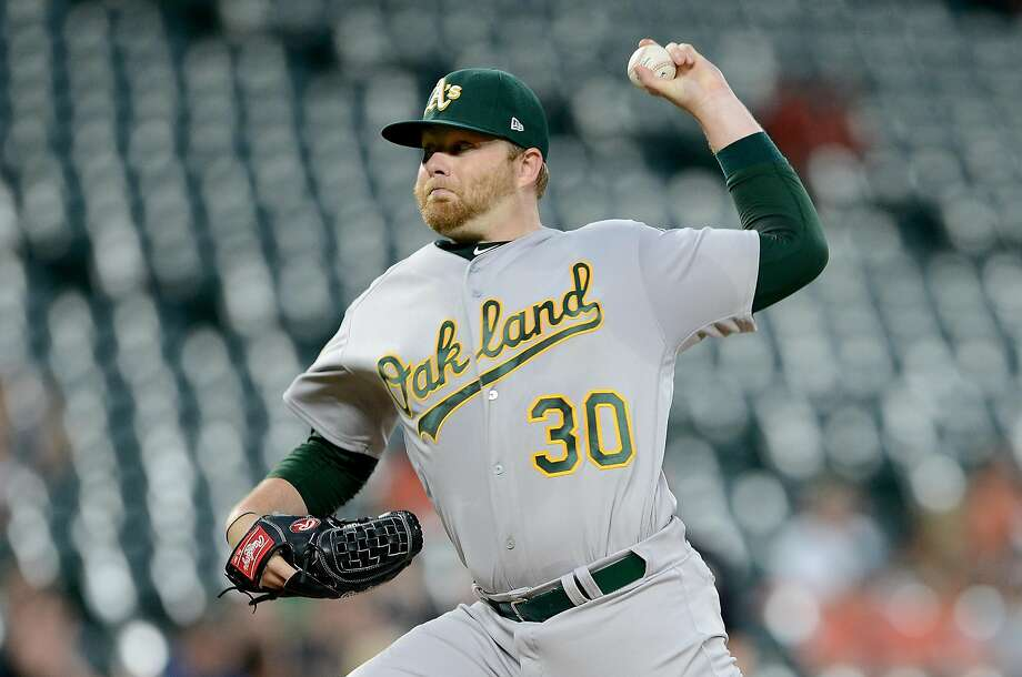 Brett Anderson #30 of the Oakland Athletics pitches in the first inning against the Baltimore Orioles at Oriole Park at Camden Yards on September 13, 2018 in Baltimore, Maryland. Photo: Greg Fiume / Getty Images