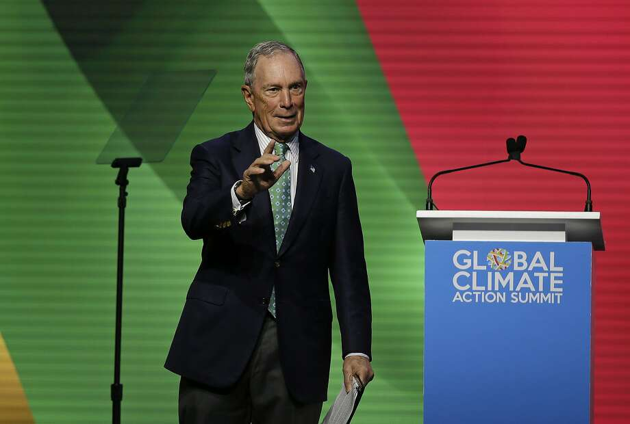 Former New York Mayor Michael Bloomberg, pondering a bid for the White House, has donated $1 million to Initiative 1631, the Washington ballot measure that would impose a first-in-the-nation fee on major polluters. (AP Photo/Eric Risberg) Photo: Eric Risberg / Associated Press