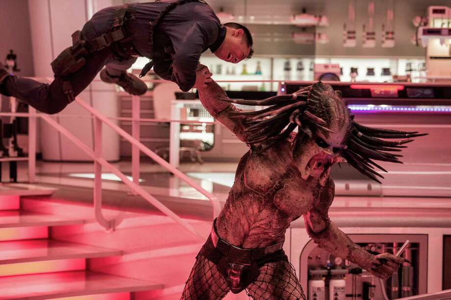 """This image released by 20th Century Fox shows a scene from """"The Predator."""" (Kimberley French/20th Century Fox via AP) Photo: Kimberley French / TM & © 2018 Twentieth Century Fox Film Corporation. All Rights"""