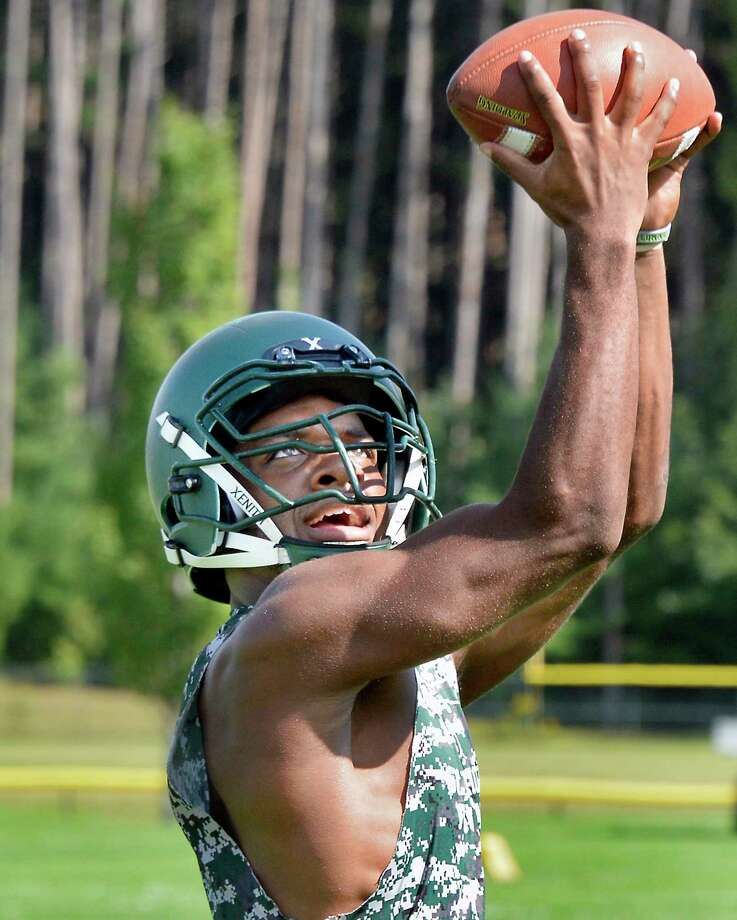Schalmont High football player Darnell Green during practice Thursday Sept. 13, 2018 in Rotterdam, NY.  (John Carl D'Annibale/Times Union) Photo: John Carl D'Annibale / 20044823A