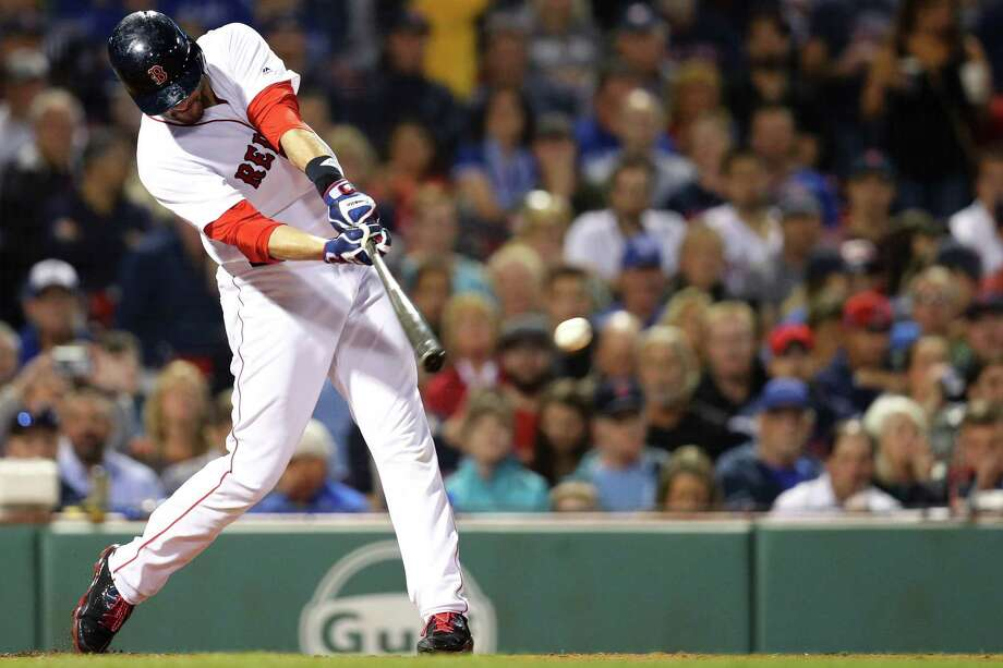 BOSTON, MA - SEPTEMBER 13: J.D. Martinez #28 of the Boston Red Sox hits a single during the third inning at Fenway Park on September 13, 2018 in Boston, Massachusetts.(Photo by Maddie Meyer/Getty Images) Photo: Maddie Meyer / 2018 Getty Images