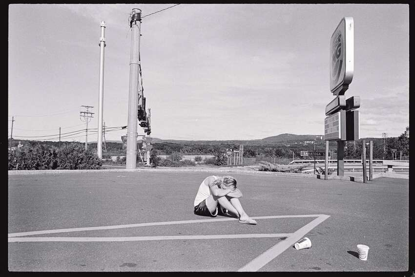 Kayla in a Burger King parking lot (Photo by Brenda Kenneally from