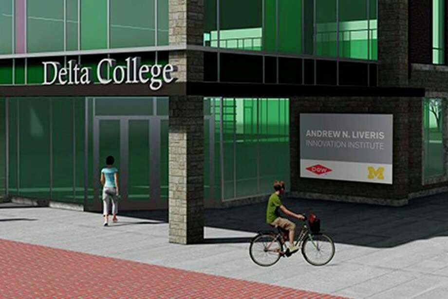 This rendering shows a design concept for the Delta Midland Center, which will be constructed in downtown Midland in the block surrounded by Ellsworth, Townsend, Buttles and Cronkright streets. (Photo provided)