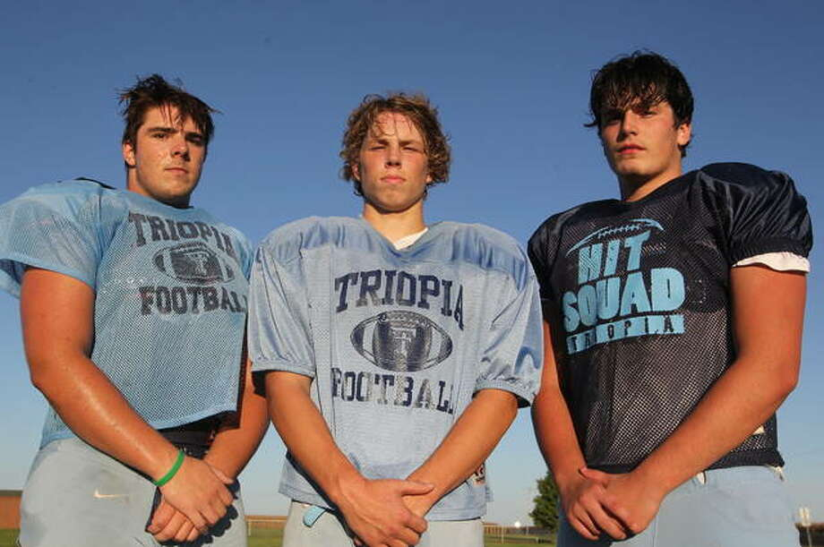 Former skill-position players Zach Rouland, Ben Stanberry and Tanner Allen are making a difference for the Triopia football team this season as members of the offensive line.