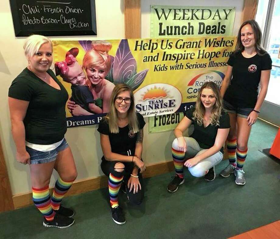 The Gathering Place servers got together to show support and all wore rainbow colored knee socks. (Submitted Photo)