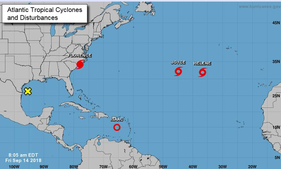 PHOTOS: Tracking Invest 95L as it moves toward the Gulf Forecasters now predict a 20 percent chance of the storm in the Gulf becoming a tropical system in the next 48 hours.>>> See how the storm progressed earlier in the week  Photo: National Hurricane Center