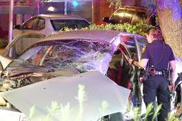Authorities believe the woman who was driving the car had a medical condition that caused her to wreck around 12:40 a.m. in the 3400 block of East Southcross Boulevard.