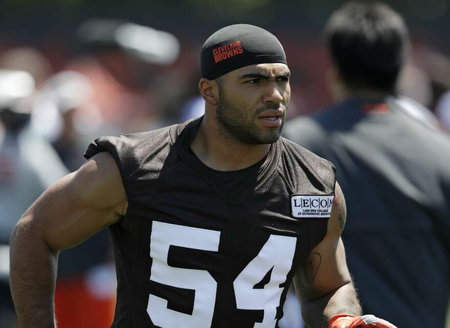 "FILE - In this July 26, 2018, file photo, Cleveland Browns' Mychal Kendricks attends NFL football training camp in Berea, Ohio. Former Browns linebacker Kendricks has pleaded guilty to insider trading charges in a Philadelphia courtroom. The 27-year-old told the judge on Thursday, Sept. 6, 2018, he knows he was wrong and entered the guilty plea because ""it's the right thing to do."" (AP Photo/Tony Dejak, File) Photo: Tony Dejak/Associated Press"