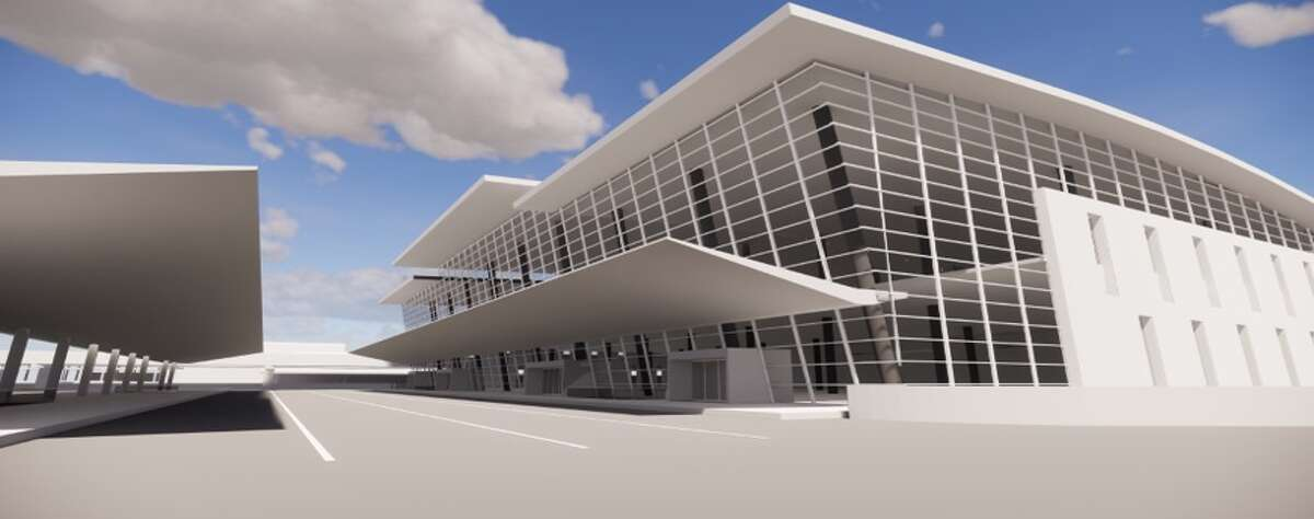 A rendering for redeveloping the Mickey Leland International Terminal at Bush Intercontinental Airport. The plan proposed Thursday, Sept. 13, 2018, will combine Terminals D and E to form the new international terminal.