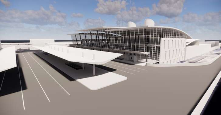 A rendering of the redeveloped Mickey Leland International Terminal at Bush Intercontinental Airport. The plan will, essentially, combine Terminals D and E.
