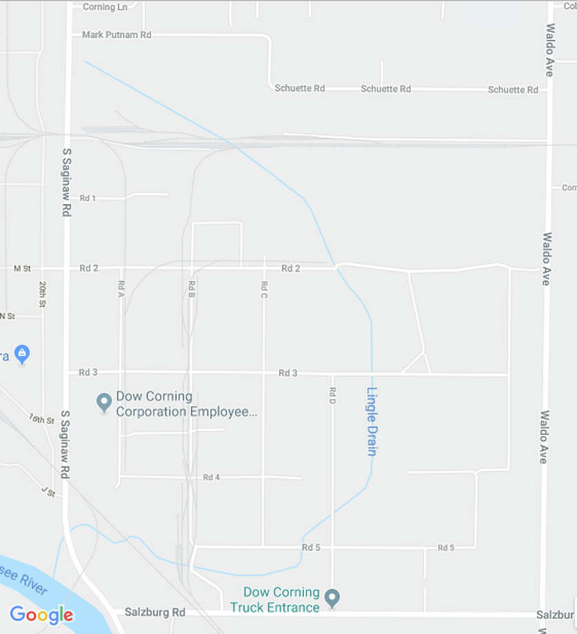 Part of Saginaw Road will be closed early Saturday morning. Photo: Google Maps