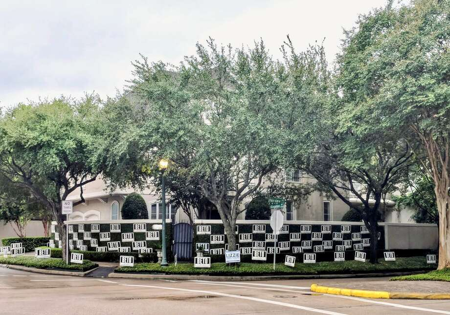 "The Houston house was used ""to send a message,"" the homeowner explains.