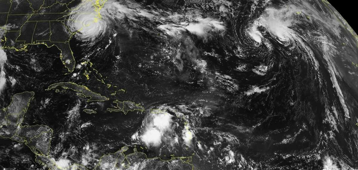 PHOTOS: This week in tropical weather This image shows the scene in the Atlantic Ocean and Caribbean as two tropical storms, a depression, and Hurricane Florence continue to swirl on Friday. >>See how the storms in the Atlantic are progressing and where they might be going